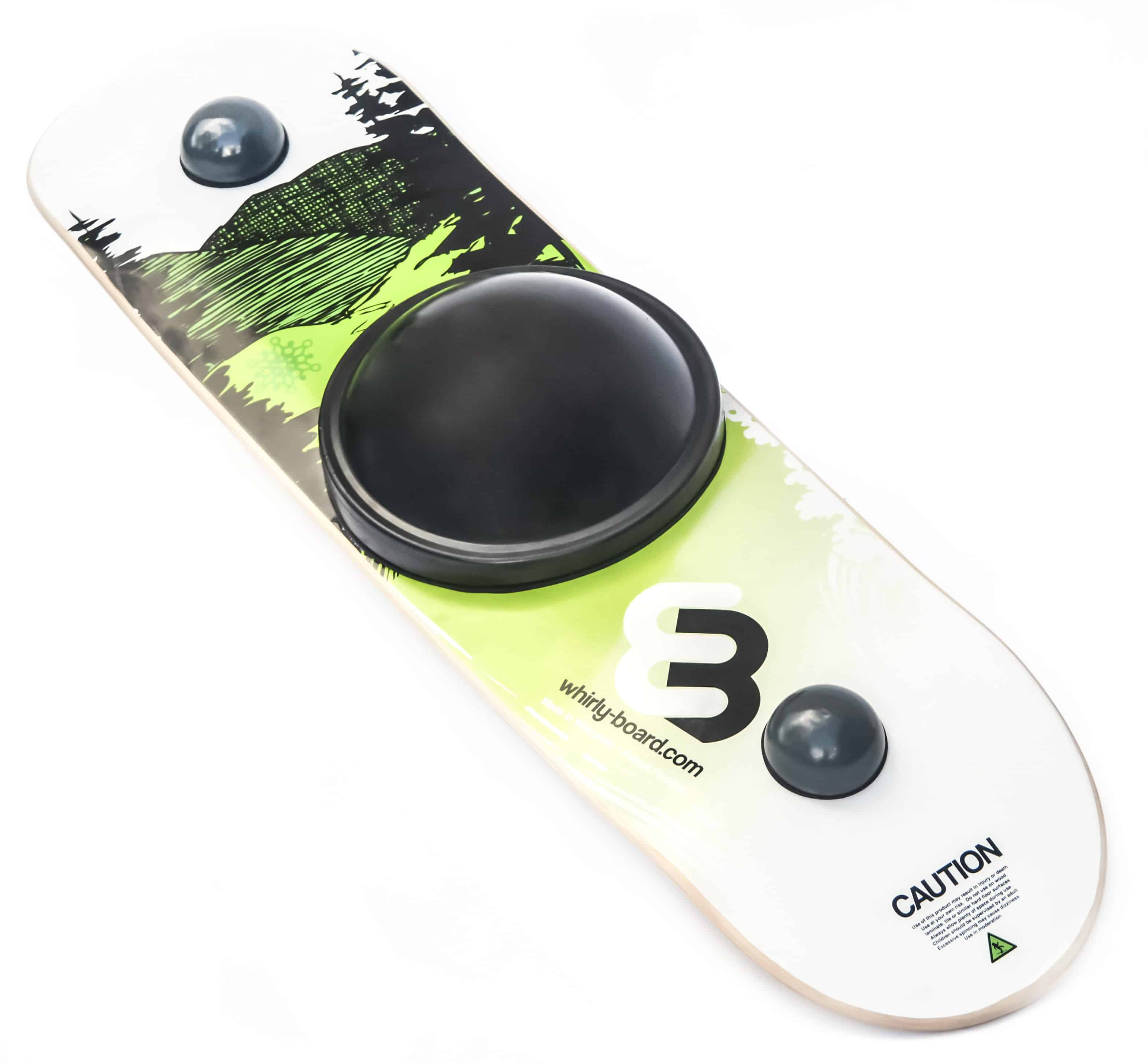 image of whirly board with mountain graphic