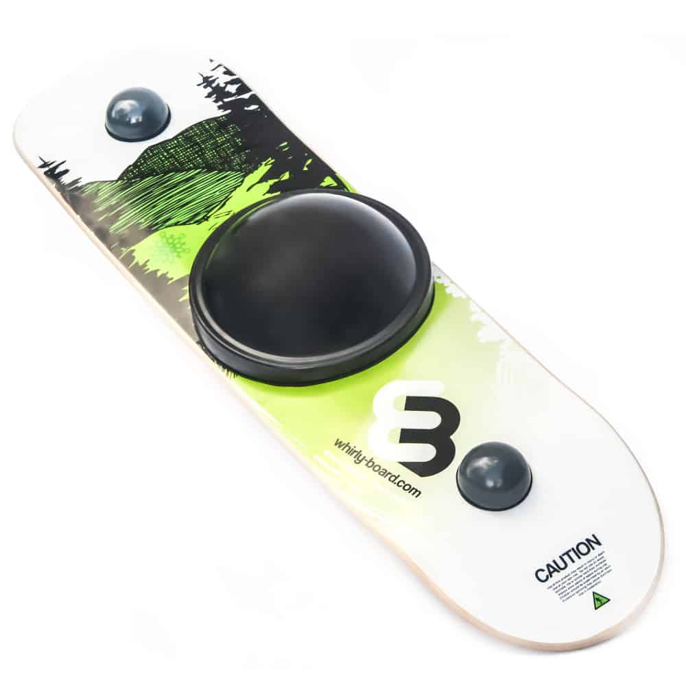 Whirly Board Spinning balance board mountain printed scene with black center ball