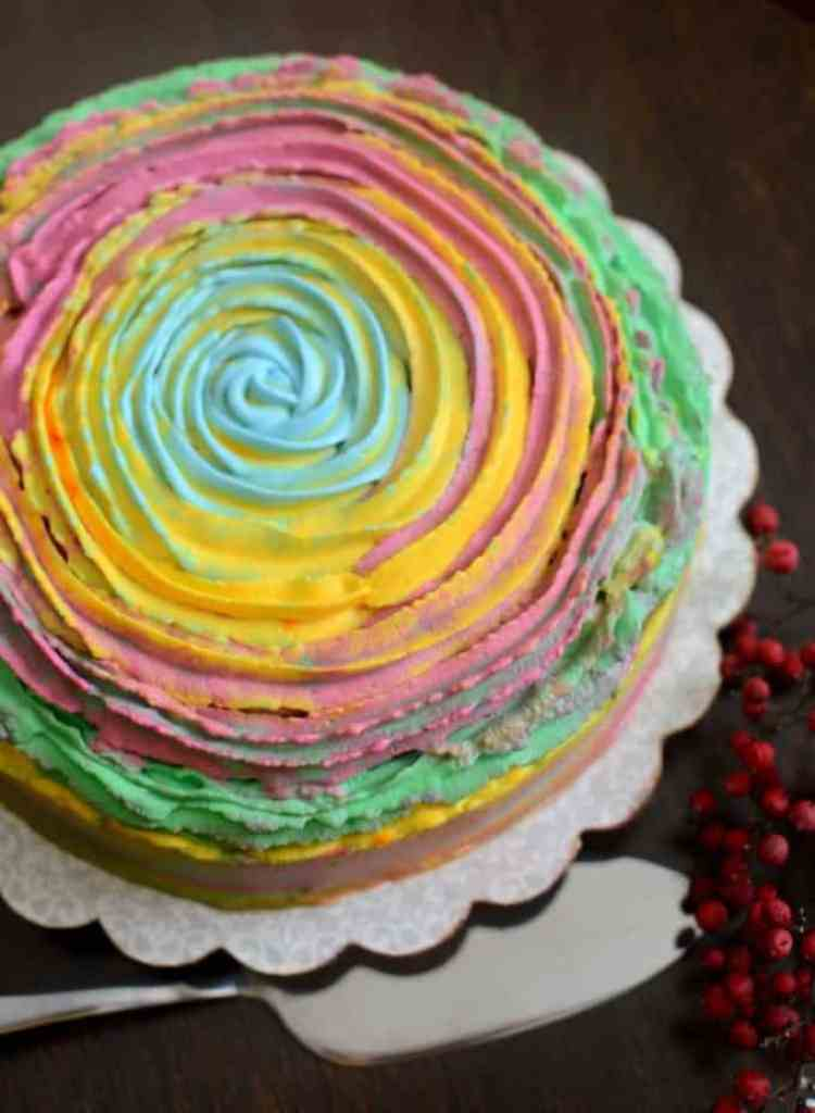 Holi Cake is made from sponge cake and varied colours to add more joy to the festival of colours!