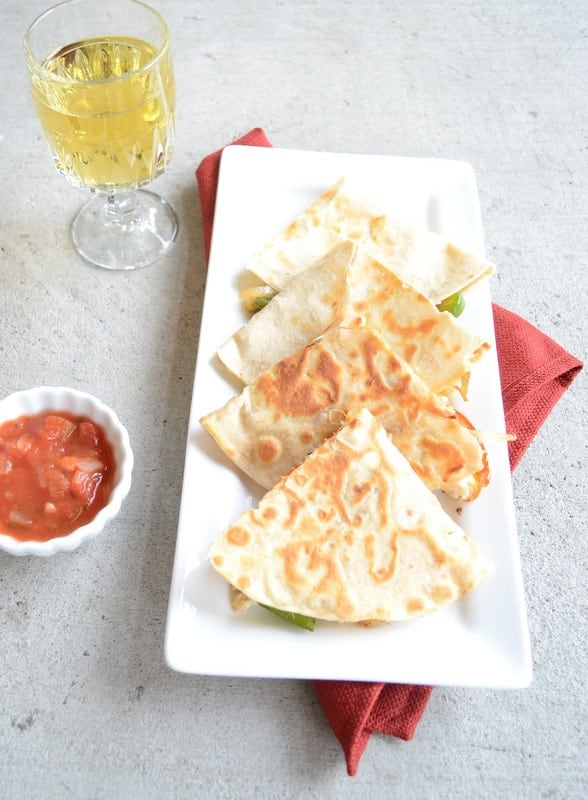 Grilled Chicken Quesadilla and Homemade Tortilla