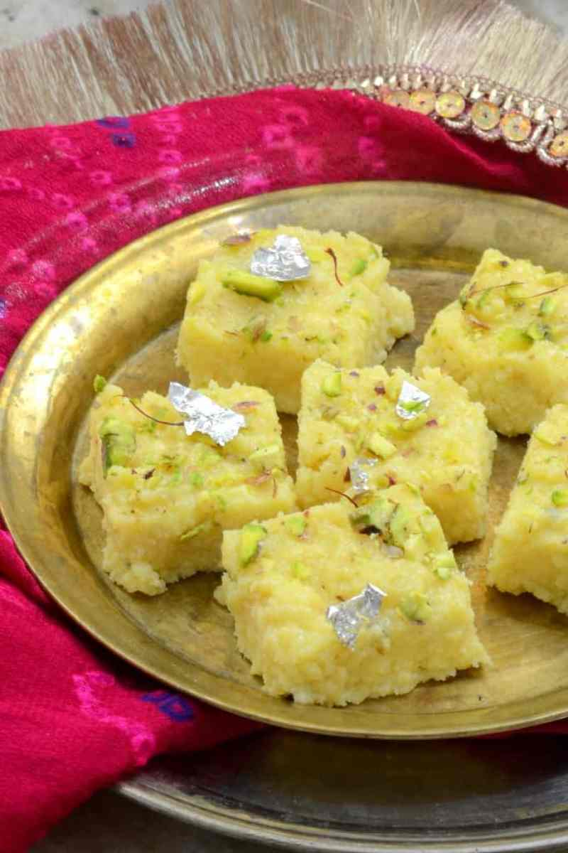 Kalakand or Indian mIlk Fudge is an easy to make Indian sweet that is rich and decadently delicious. You can make it at home with this simple recipe!.