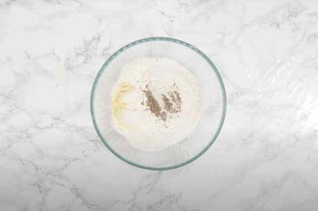 Cardamom powder added in the bowl.