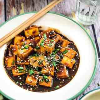 Asian style Garlic Tofu