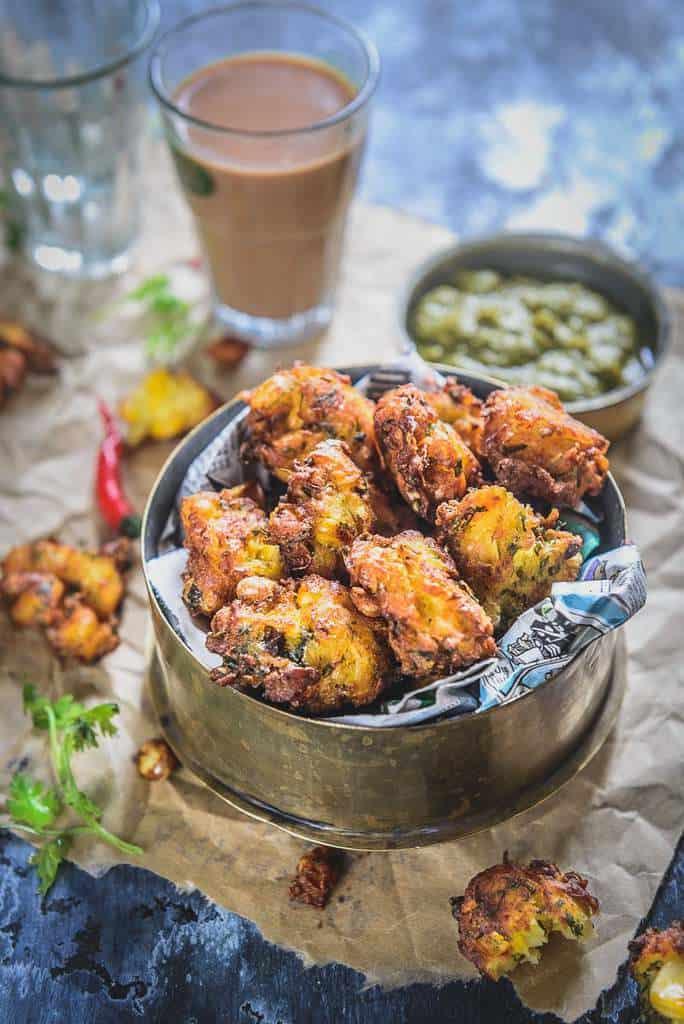 Corn Pakora Recipe I Corn Fritters Recipe I Corn Pakoda