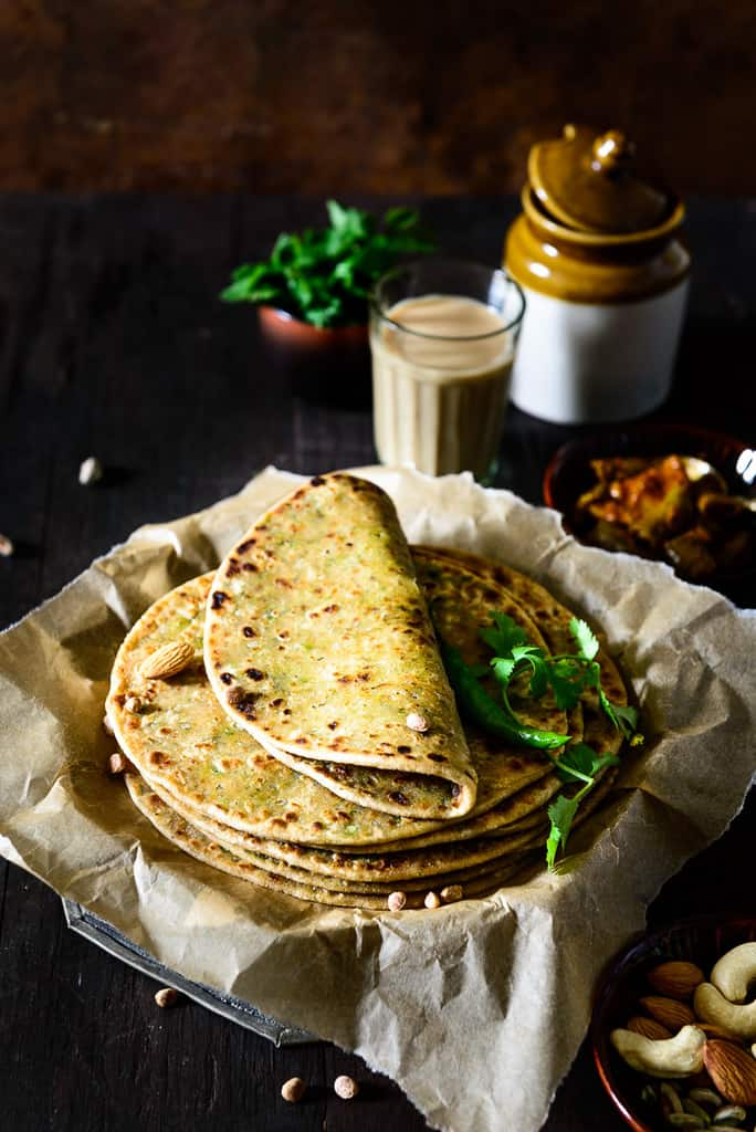 Innovative and truly delicious, Dry Fruits Paratha is whole wheat flour rotis stuffed with powdered dried fruits. How to make Dry Fruits Paratha, Stuffed Paratha