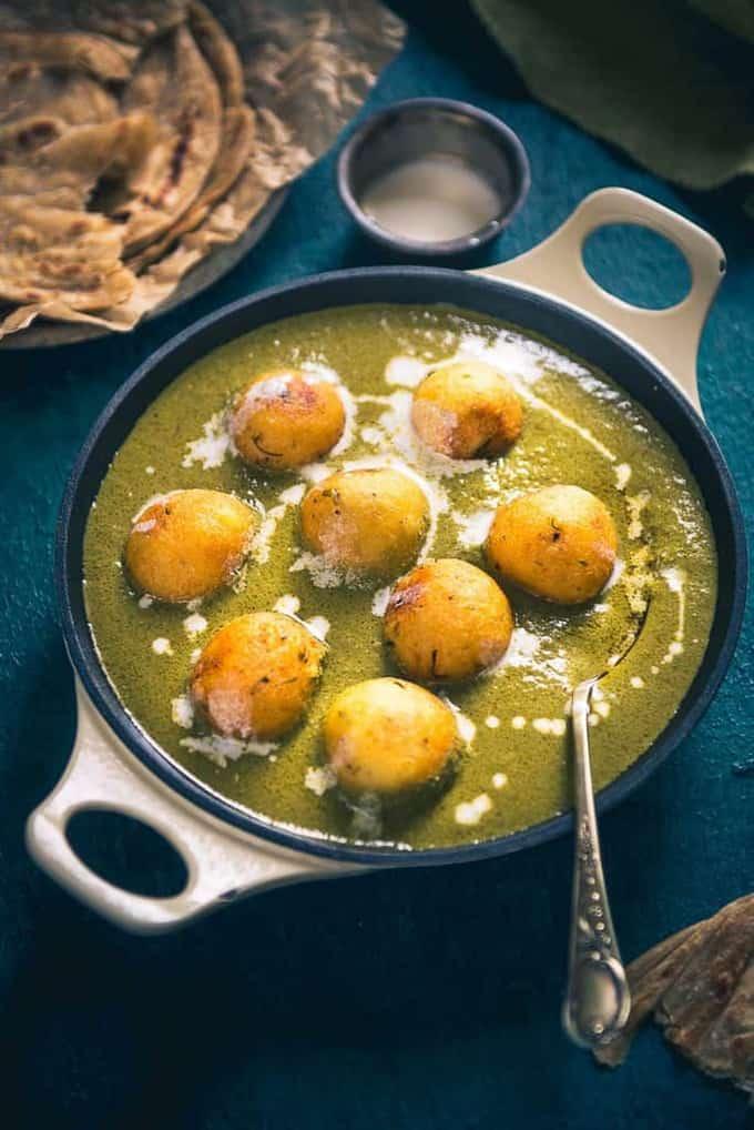 Hariyali Malai Kofta Recipe, How to make Hariyali Malai Kofta
