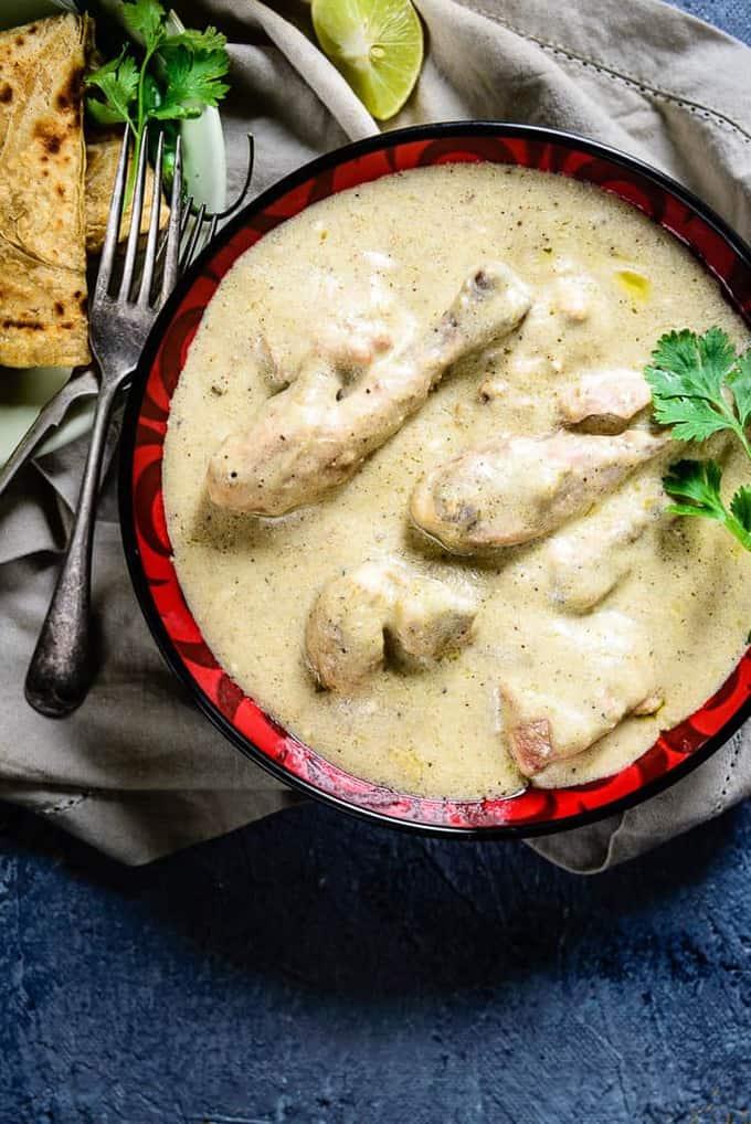 Safed Murg Korma / Chicken in White Gravy