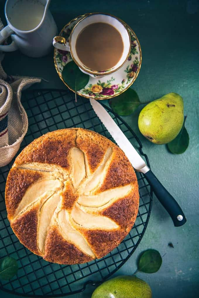 Pear Olive Oil Cake Recipe, How to make Pear Olive Oil Cake