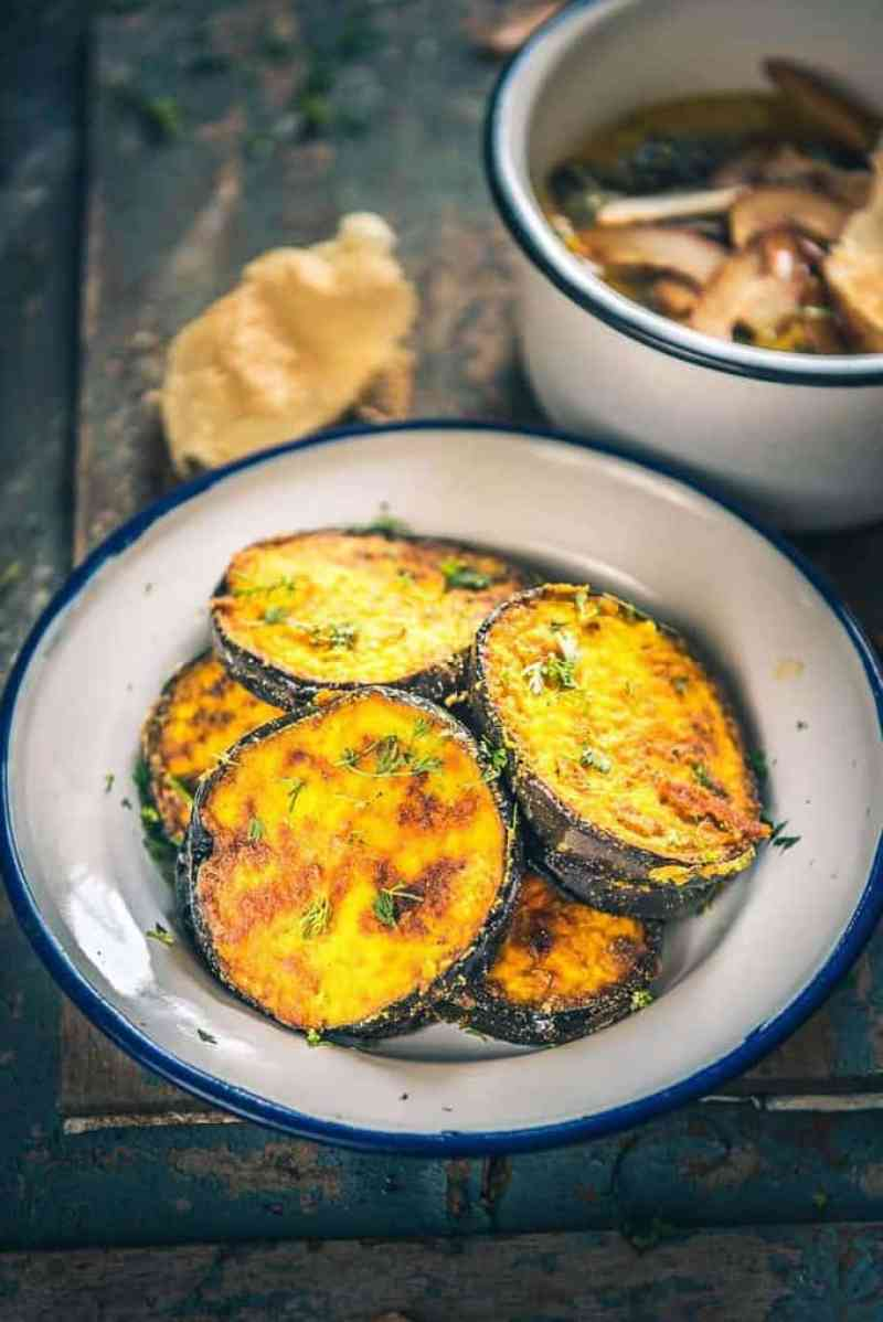 Poila Baisakh is the traditional New Year day of Bengali people and the festival is celebrated with processions, fairs, family time, and food! Bengali Begun Bhaja is a dish prepared out of thick slices of the eggplant marinated in spices and coated with rice flour and deep fried.