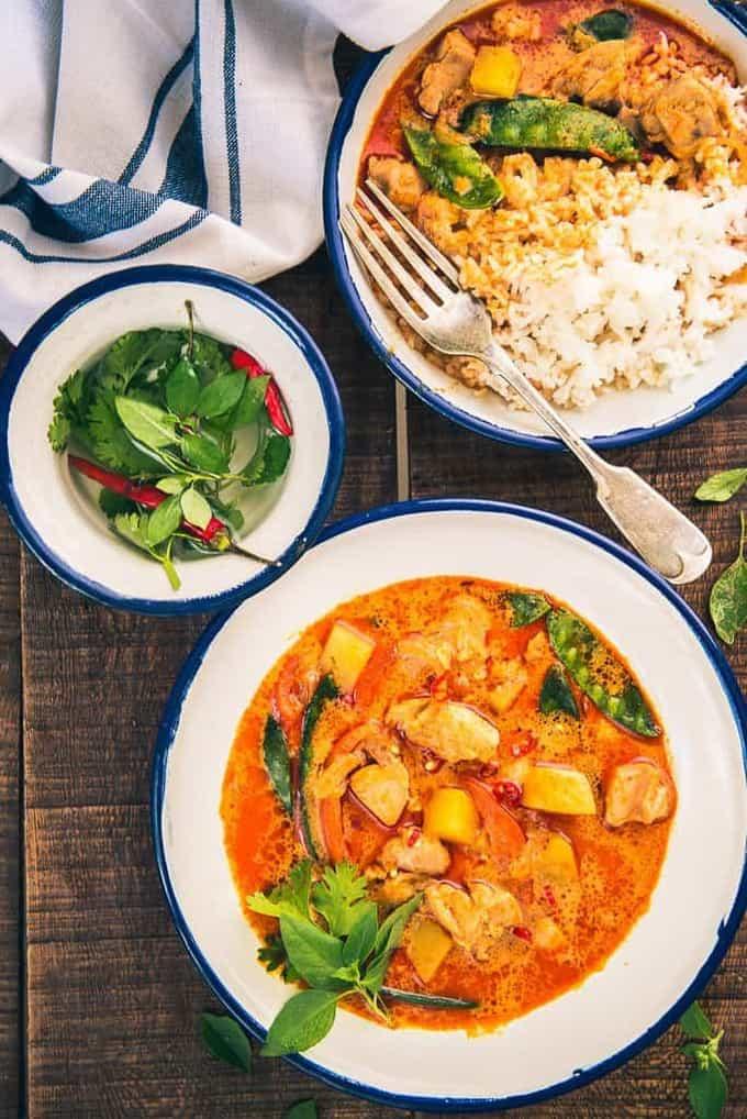 Thai Raw Mango Chicken Curry Recipe, How to make Thai Raw Mango Chicken Curry