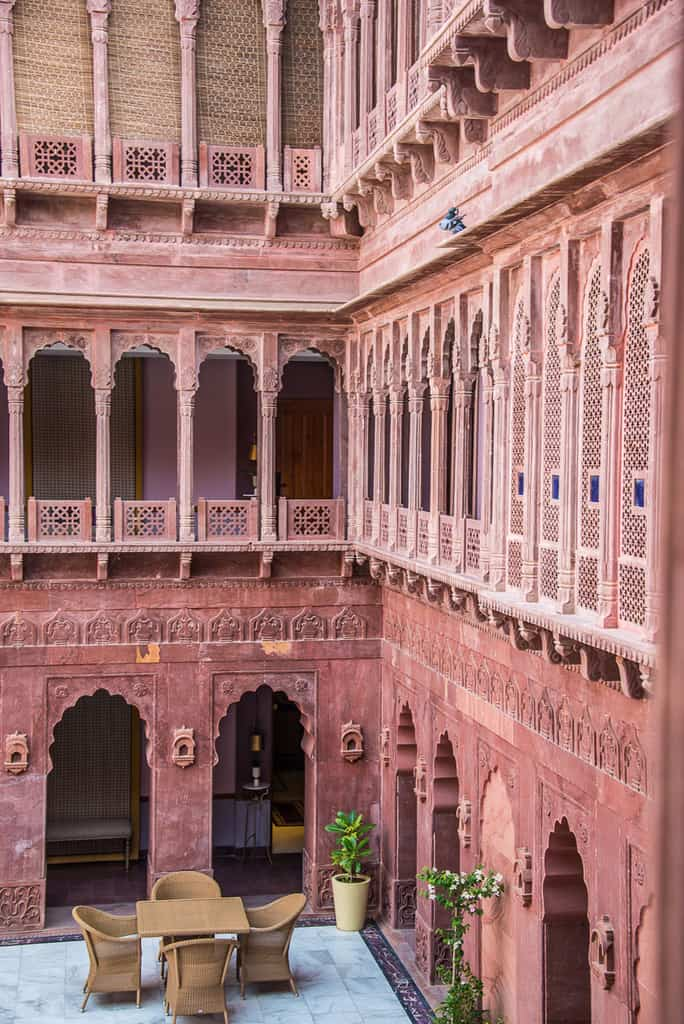 The property retells the story of the last reigning Maharaja of Bikaner, Narendra Singh Ji.