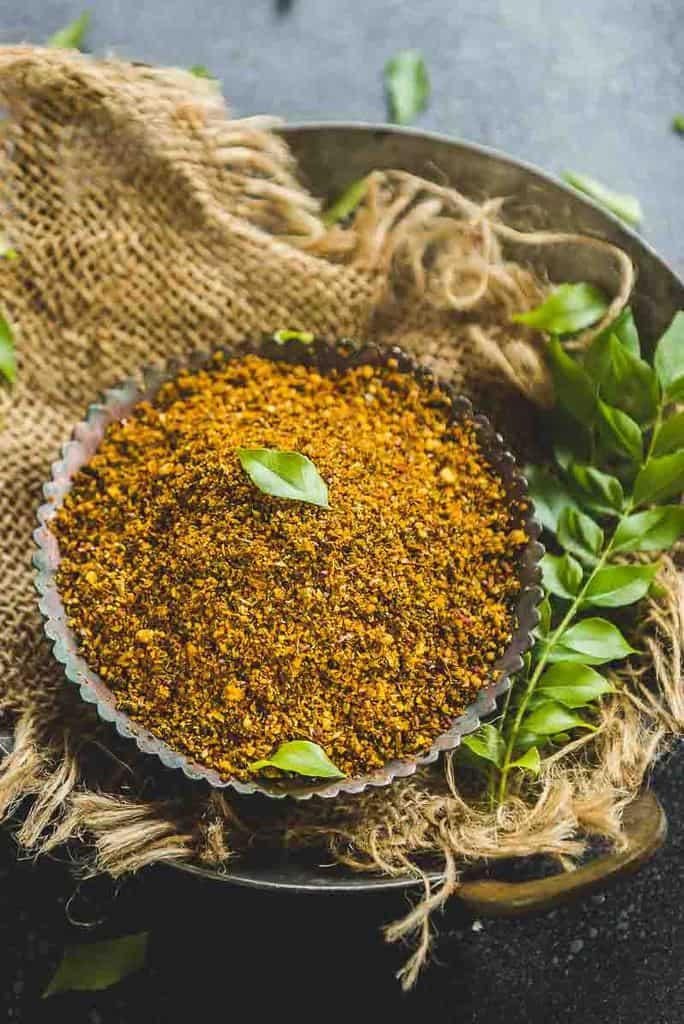 Karivepaku Podi Recipe ( Curry Leaf Powder ) – Video Recipe