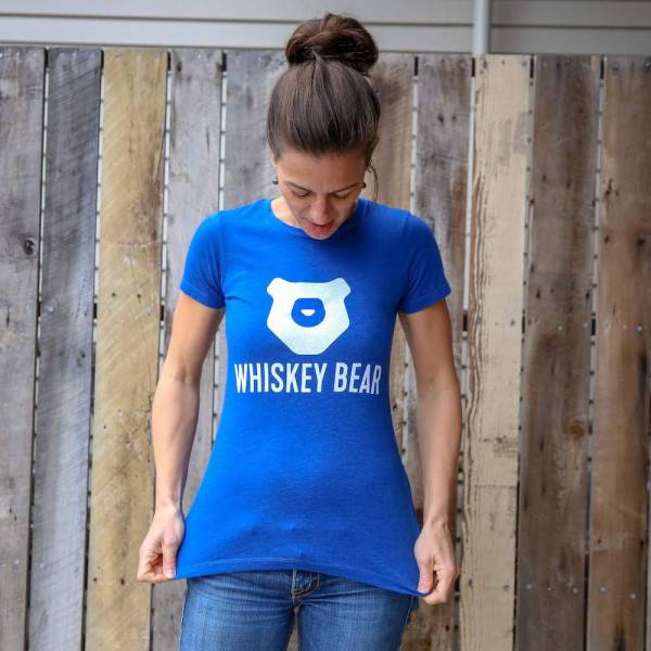 Whiskey Bear - Apparel - Ladies - SS Tee - Royal