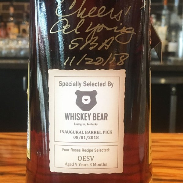 Whiskey Bear Barrel Select - Four Roses