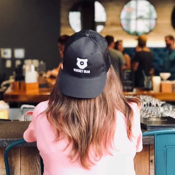 Whiskey Bear - Baseball Cap - Black