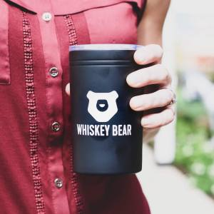 Whiskey Bear Tumbler 11 oz – Black