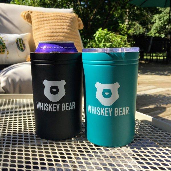 Whiskey Bear - Tumbler - 11 oz - Teal