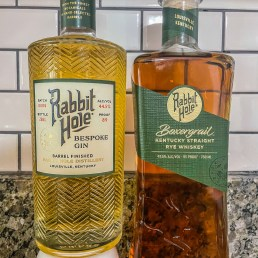 A picture of Rabbit Hole Bespoke Gin and Boxergrail Rye Whiskey