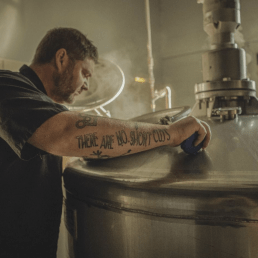 A distiller for Laws Whiskey House