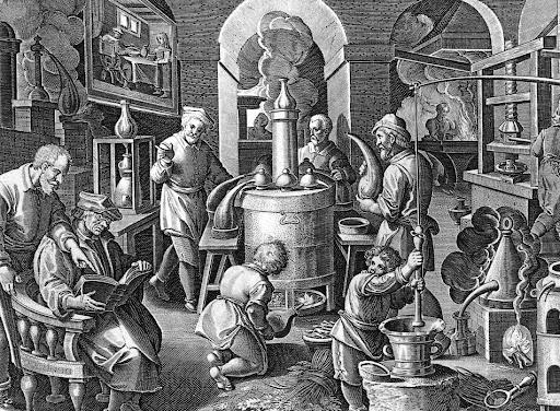 Early distillation artist rendition