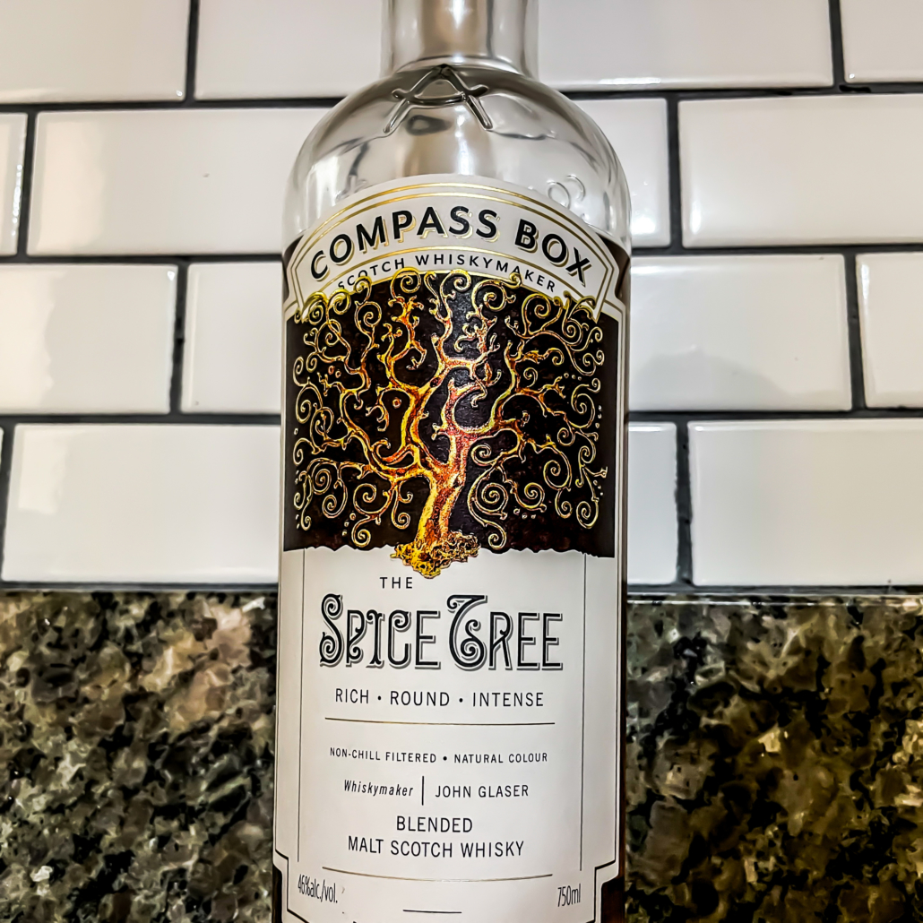 Compass box the spice tree blended malt scotch whiskey