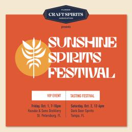 Kozuba & Sons hosting the Florida Craft Spirits Association Sunshine Spirits Festival October 1st in Tampa, FL and St. Petersburg (or St. Pete)