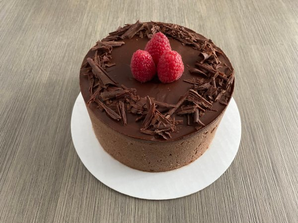 Almond Meringue Dark Chocolate Mousse Cake