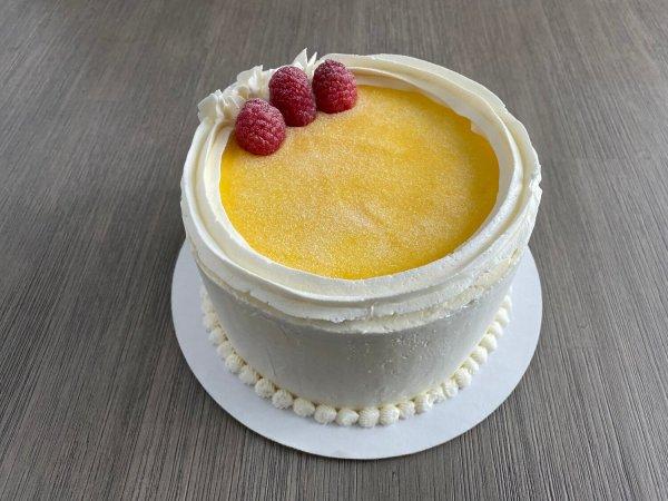 White Wine Lemon Mousse Cake