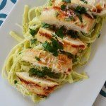 Roasted Asparagus Ricotta Linguine with Grilled Lemon Chicken