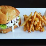 Feta Turkey Burger with Garlic Aioli Sauce