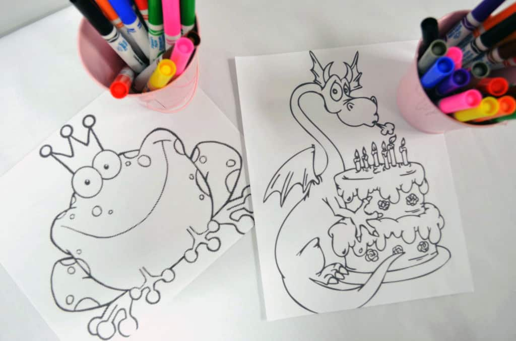 New Princess Coloring Pages : Gold pink and white princess party whisking mama
