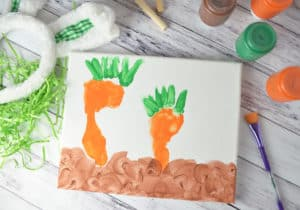 Spring Time Carrot Canvas