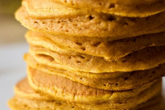 Pumpkin Oat Pancakes {Gluten-Free}