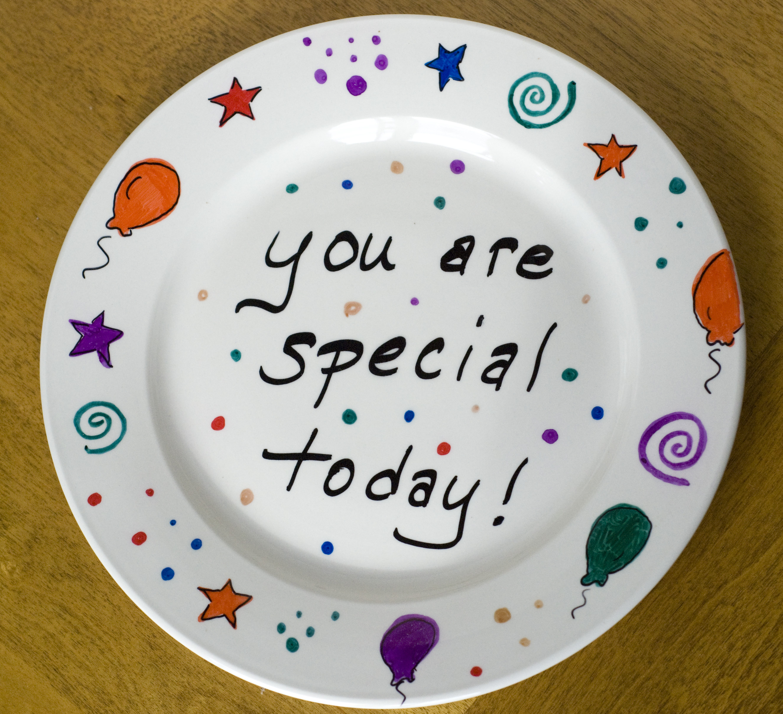 make your own celebration plate