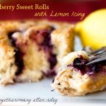 Blueberry Sweet Rolls with Lemon Icing