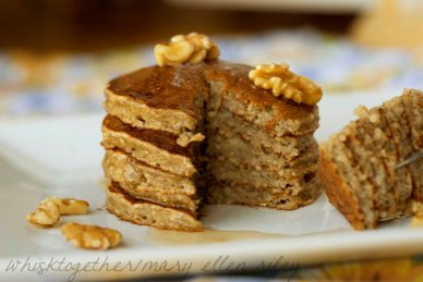banana bread pancakes_9 on Whisk Together