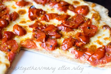 Caramelized Tomato Pizza on Whisk Together