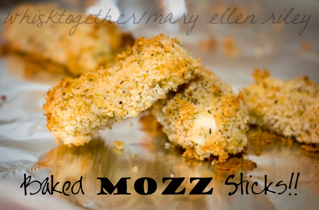 Baked Mozzerella Sticks