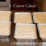 Carrot Cake and How to Make 6 Cakes in a Day