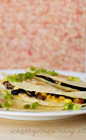 Black Bean and Corn Quesadillas_2 on Whisk Together