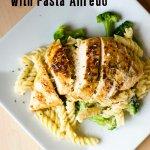Blackened Chicken with Pasta Alfredo