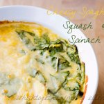 Cheesy Spaghetti Squash and Spinach
