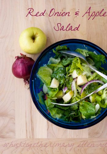 Apple Red Onion Salad_1 on Whisk Together