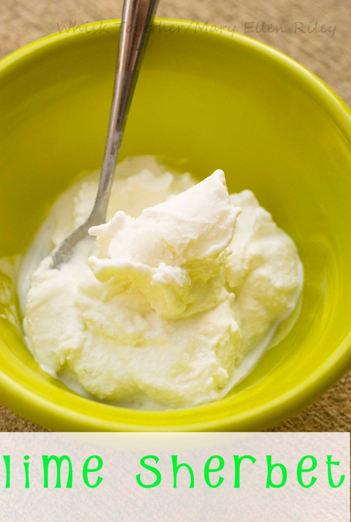 Lime Sherbet on Whisk Together