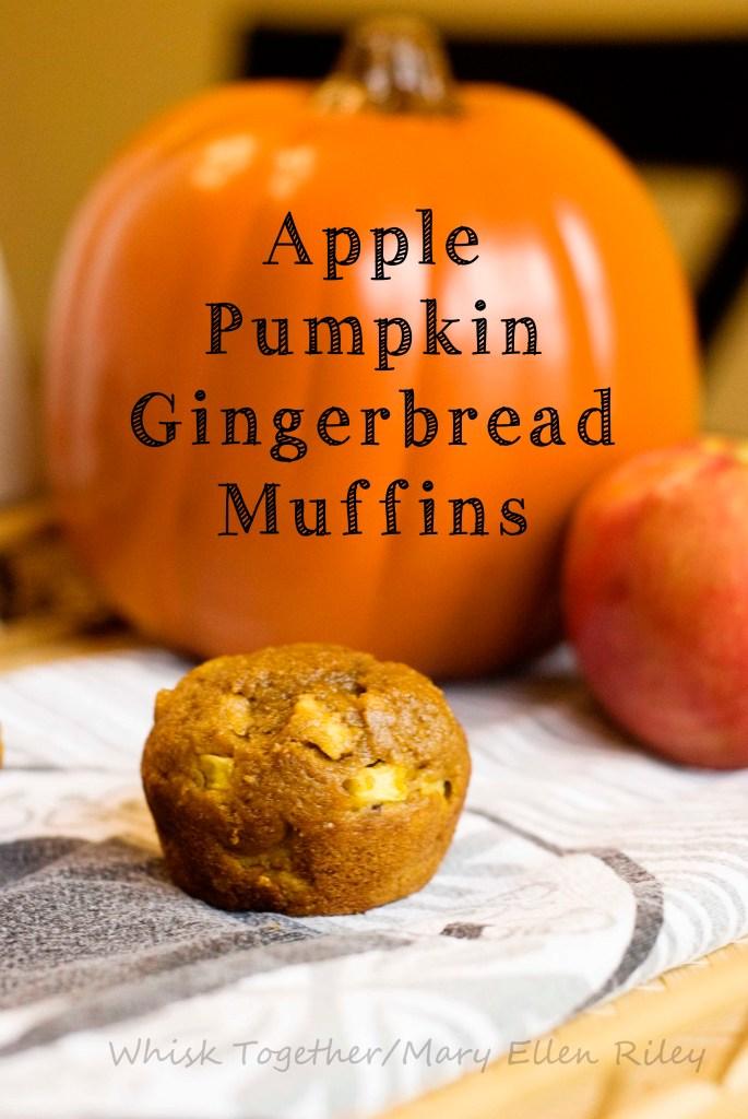 Apple Pumpkin Gingerbread Muffins 2 on Whisk Together