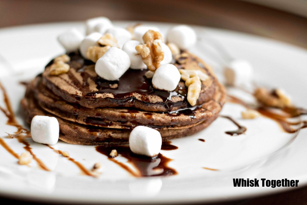 Rocky Road Pancakes_1 on Whisk Together