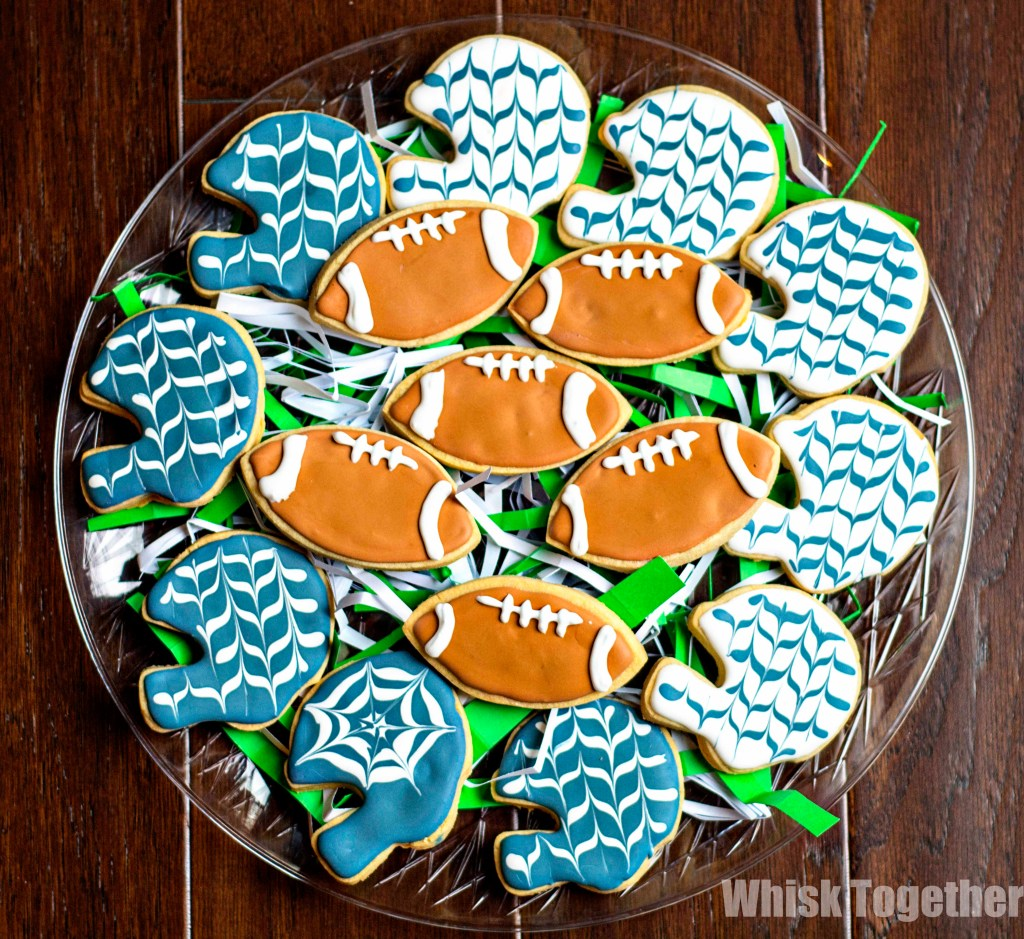 Football Sugar Cookies on Whisk Together