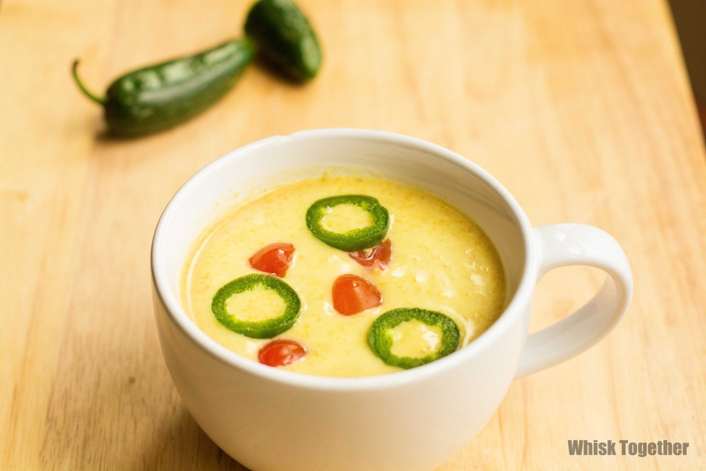 Roasted Jalapeno Soup- on Whisk Together