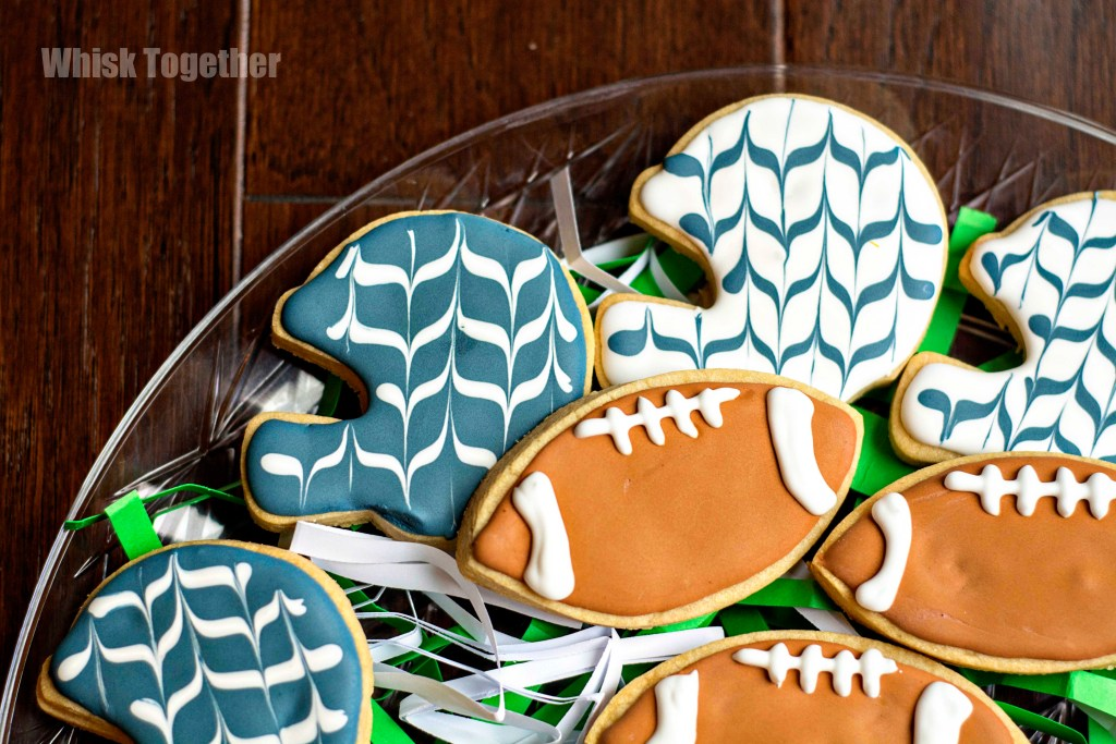 Superbowl Sugar Cookies on Whisk Together
