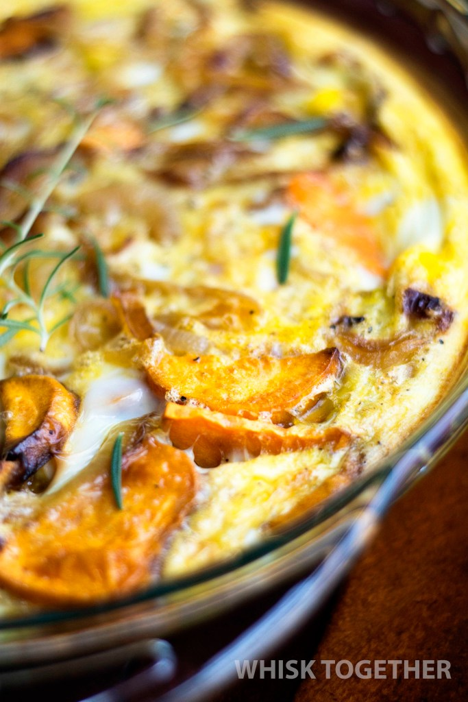 Sweet Potato and Caramelized Onion Frittata_2 on Whisk Together